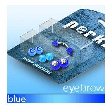 Piercingset Augenbrauenpiercing blau