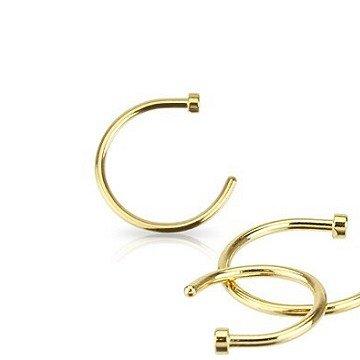 1 mm Nasenpiercing Ring Gold