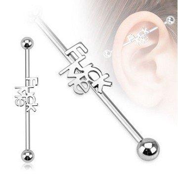 Insdustrial Piercing fürs Ohr