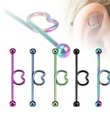 Industrial Piercing eloxiert - 5 Farben