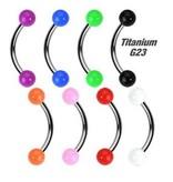 Titan Augenbrauenpiercing - 8 Farben