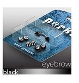 Piercing Set für Augenbrauen schwarz