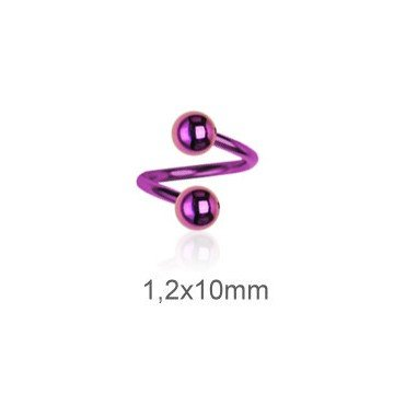 Spirale 1,2 mm pink - Tolles Lippenpiercing