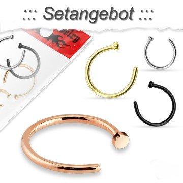 Nasenpiercing Ring im Set-Angebot