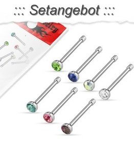 Nasenpiercing 7er Set