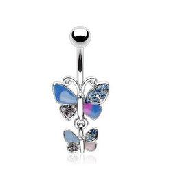 Bauchnabelpiercing Schmetterling