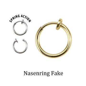 Nasenring Fakepiercing goldfärbig
