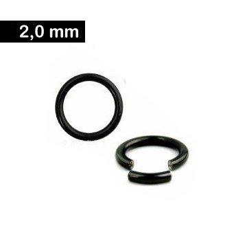 2 mm Segmentring - schwarz