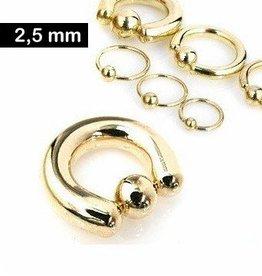 2,5 mm BCR-Ring goldfärbig