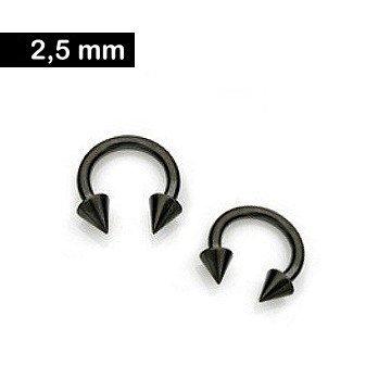 2,5mm Circular Barbell - schwarz