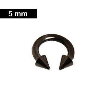 Piercingring 5 mm - schwarz