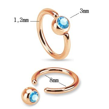 BCR-Ring 1,2 x 8 mm mit Stein