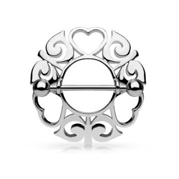 Nippelpiercing - Schild mit Herzen