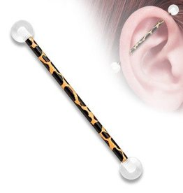 38mm Industrial Piercing schwarz-orange