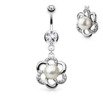 Bauchnabelpiercing mit Anhänger mit Perle