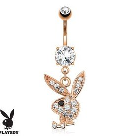 Bauchnabelpiercing Playboy rose