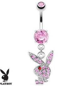 Bauchnabelpiercing Playboy pink