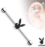 Industrial Piercing Playboy Bunny 38 mm