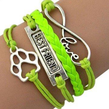 Damenarmband Infinity - Best Friend & Hundepfote