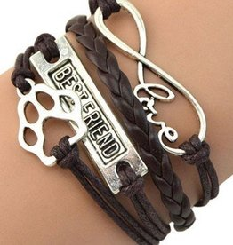 Damenarmband Infinity - Best Friend & Hundepfote