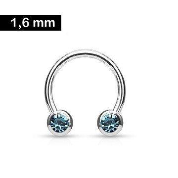 1,6 x 12 mm Nippelring Ring Türkis