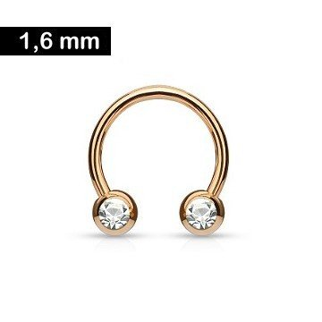 1,6 mm Brustpiercingring rose