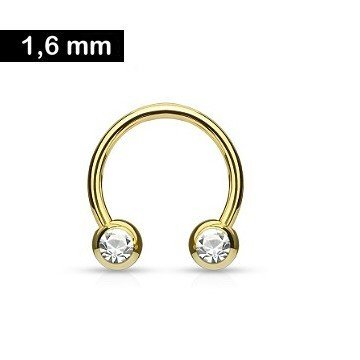 Hufeisenring gold 1,6 x 12 mm