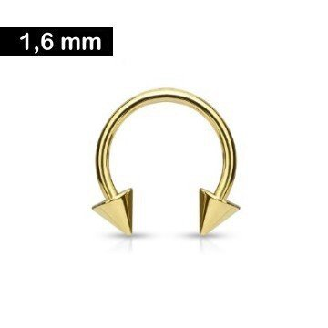 Hufeisenring gold 1,6 x 10 mm