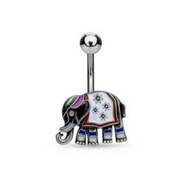 Nabelpiercing Elefant