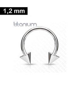 Cicular Barbell Titanium