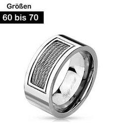 Edelstahl Ring für Männer