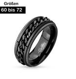 Edelstahl Ring mit Kette 60-72 mm