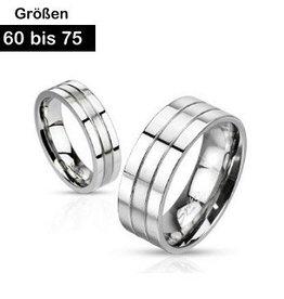 Edelstahl Ring mattiert