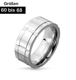 Edelstahl Ring für Herren