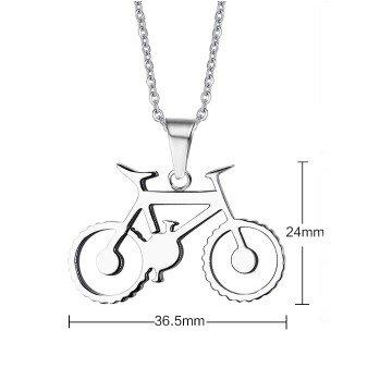 Halskette aus Edelstahl mit Mountainbike