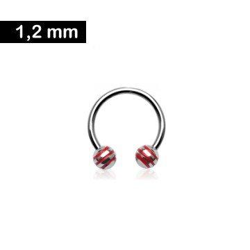 1,2mm Circular Barbell - rot