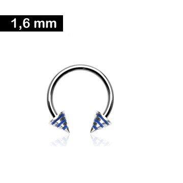 Hufeisenring 1,6 mm - blau