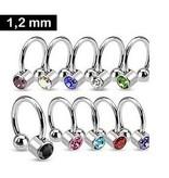 Offener Ring mit Stein - 10 Farben