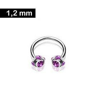 Hufeisenring 1,2 mm - violett