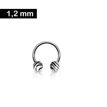 1,2 mm Piercingring - Zebralook
