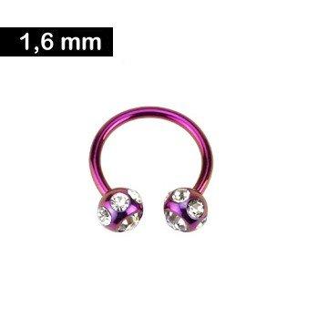 1,6mm Circular Barbell - pink