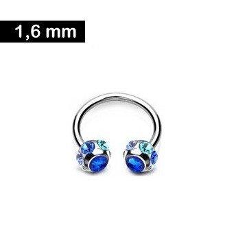 Bauchnabelpiercing Ring mit Zirkonia