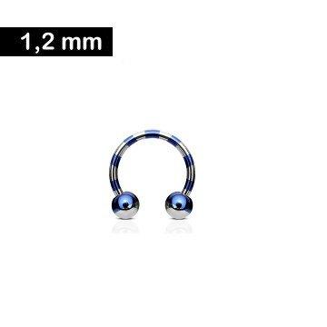 1,2 x 10 mm Hufeisen Ring gestreift