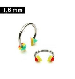 Piercingring 1,6mm Kegel