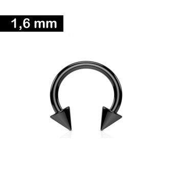 1,6 mm Hufeisenring - schwarz