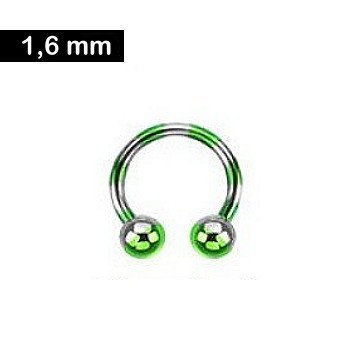 Hufeisenring 1,6 mm - grün