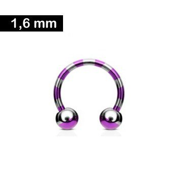 Circular Barbell pink gestreift