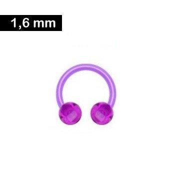1,6mm Circular Barbell Kunststoff - violett
