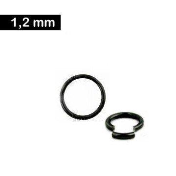 Segmentring schwarz 1,2 mm - 3 Größen