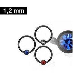 Schwarzer BCR-Ring 1,2 mm